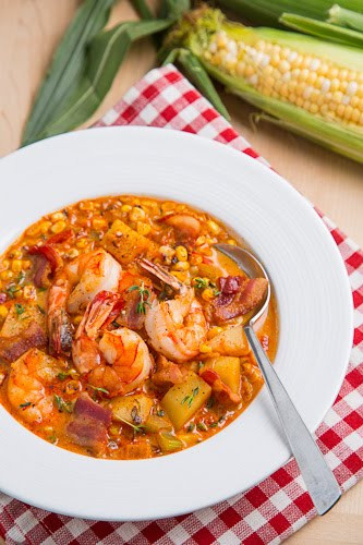Shrimp And Corn Soup  Shrimp and Roasted Corn Chowder on Closet Cooking