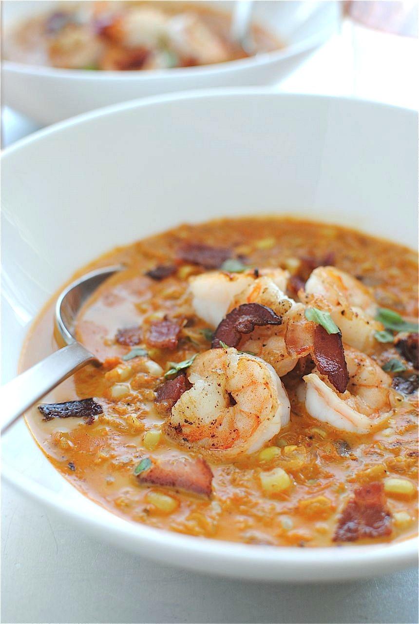 Shrimp And Corn Soup  Smoky Corn Chowder with Shrimp