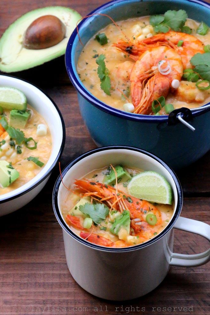 Shrimp And Corn Soup  Shrimp and corn chowder Laylita s Recipes