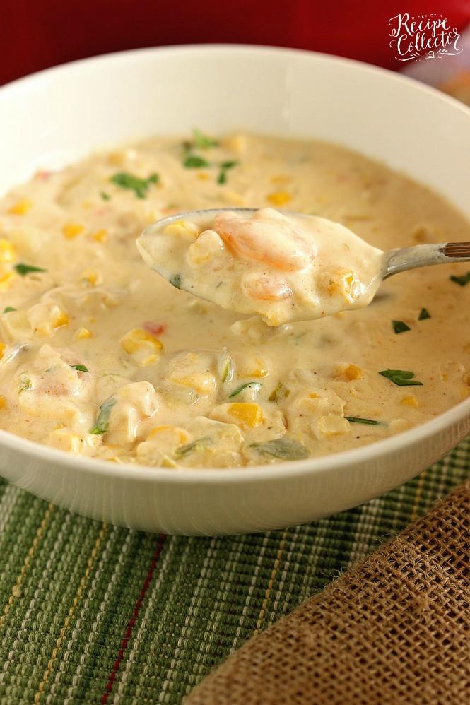 Shrimp And Corn Soup  Creamy Shrimp & Corn Soup Diary of A Recipe Collector
