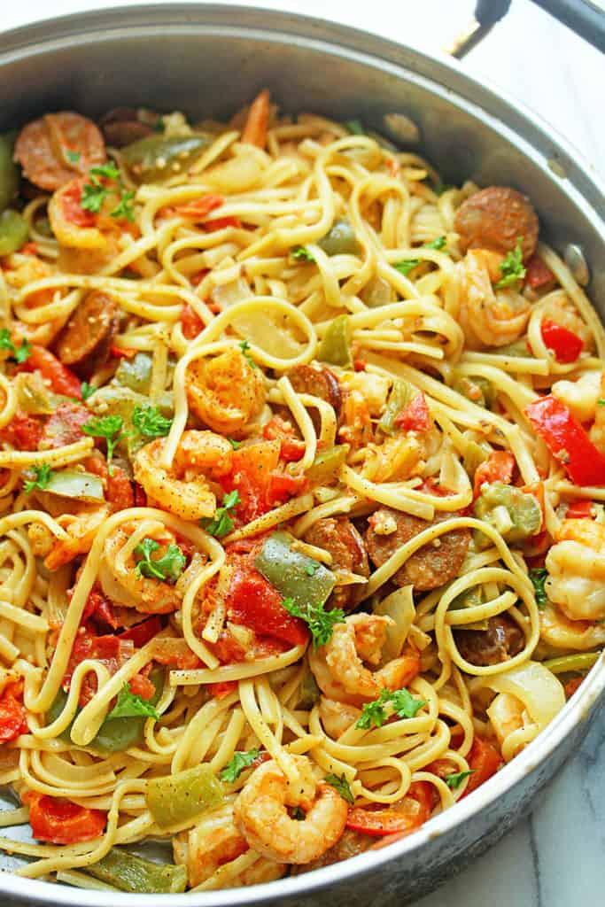 Shrimp And Pasta Dishes  Cajun Shrimp Pasta Recipe Grandbaby Cakes