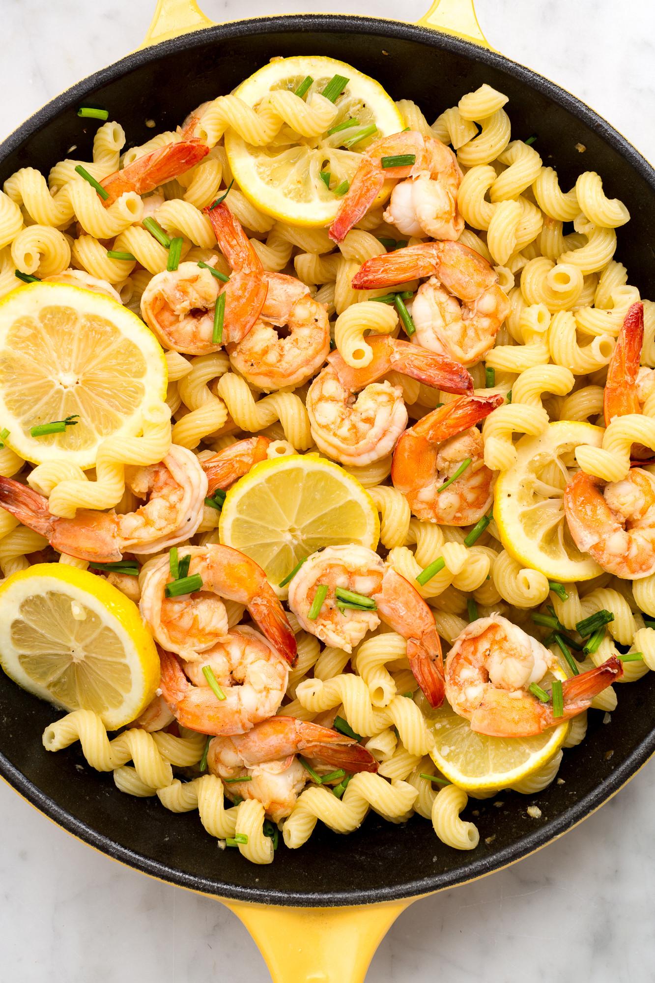 Shrimp And Pasta Dishes  Best Lemony Shrimp Cavatappi Recipe How to Make Lemony