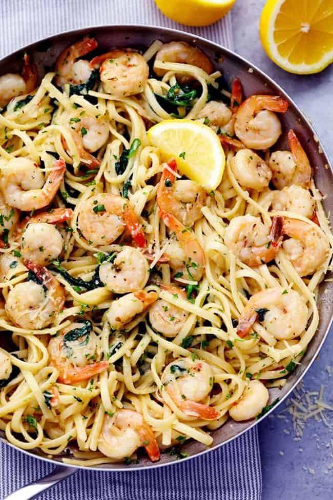 Shrimp And Pasta Dishes  Lemon Garlic Parmesan Shrimp Pasta