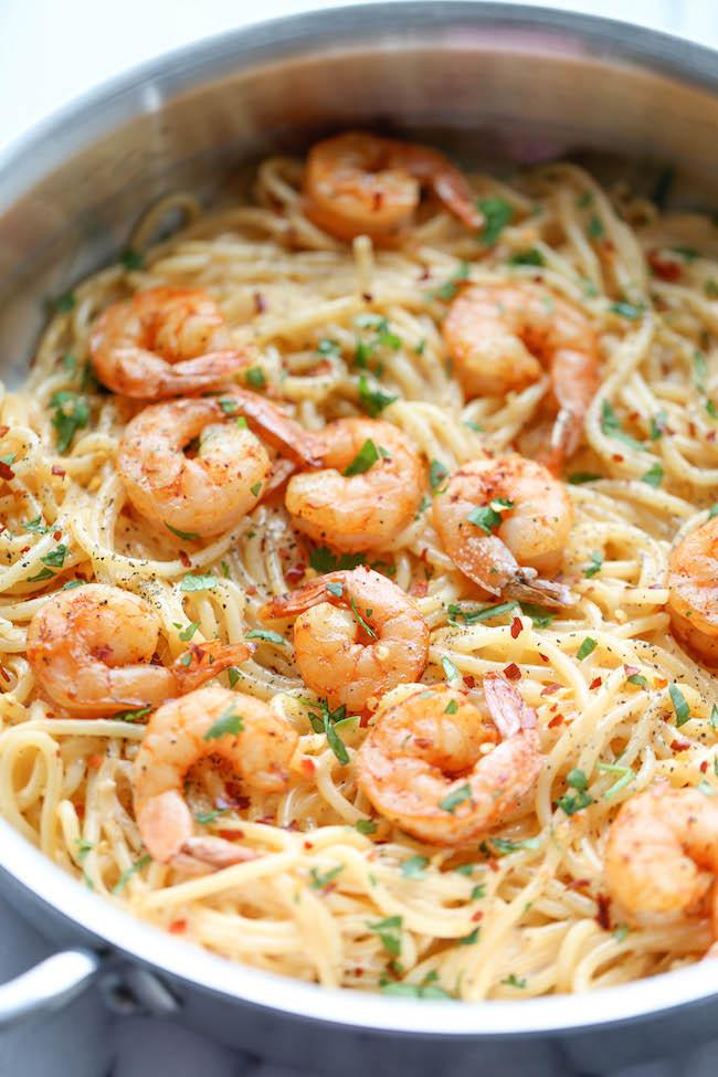 Shrimp And Pasta Dishes  quick and easy bang bang shrimp pasta