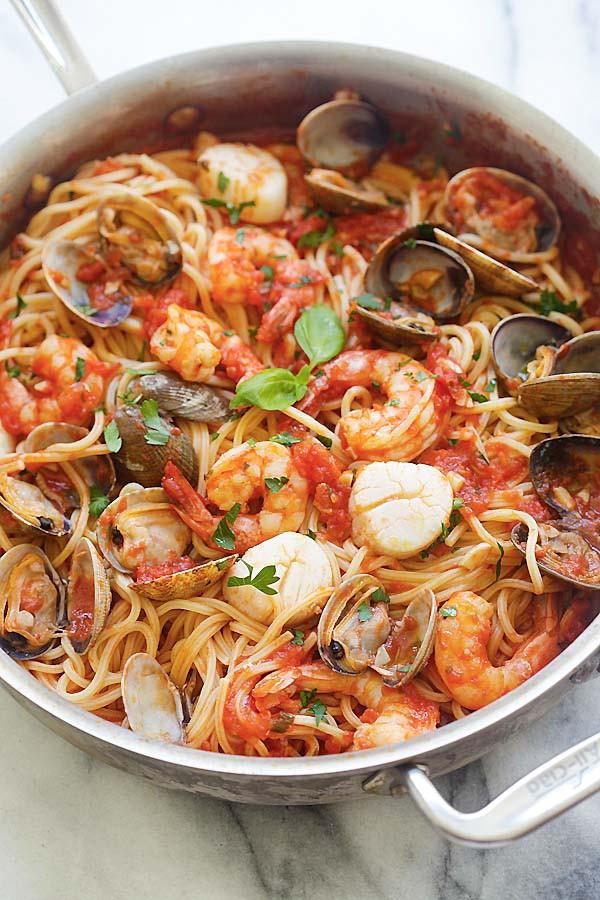 Shrimp And Pasta Dishes  e Pot Seafood Pasta