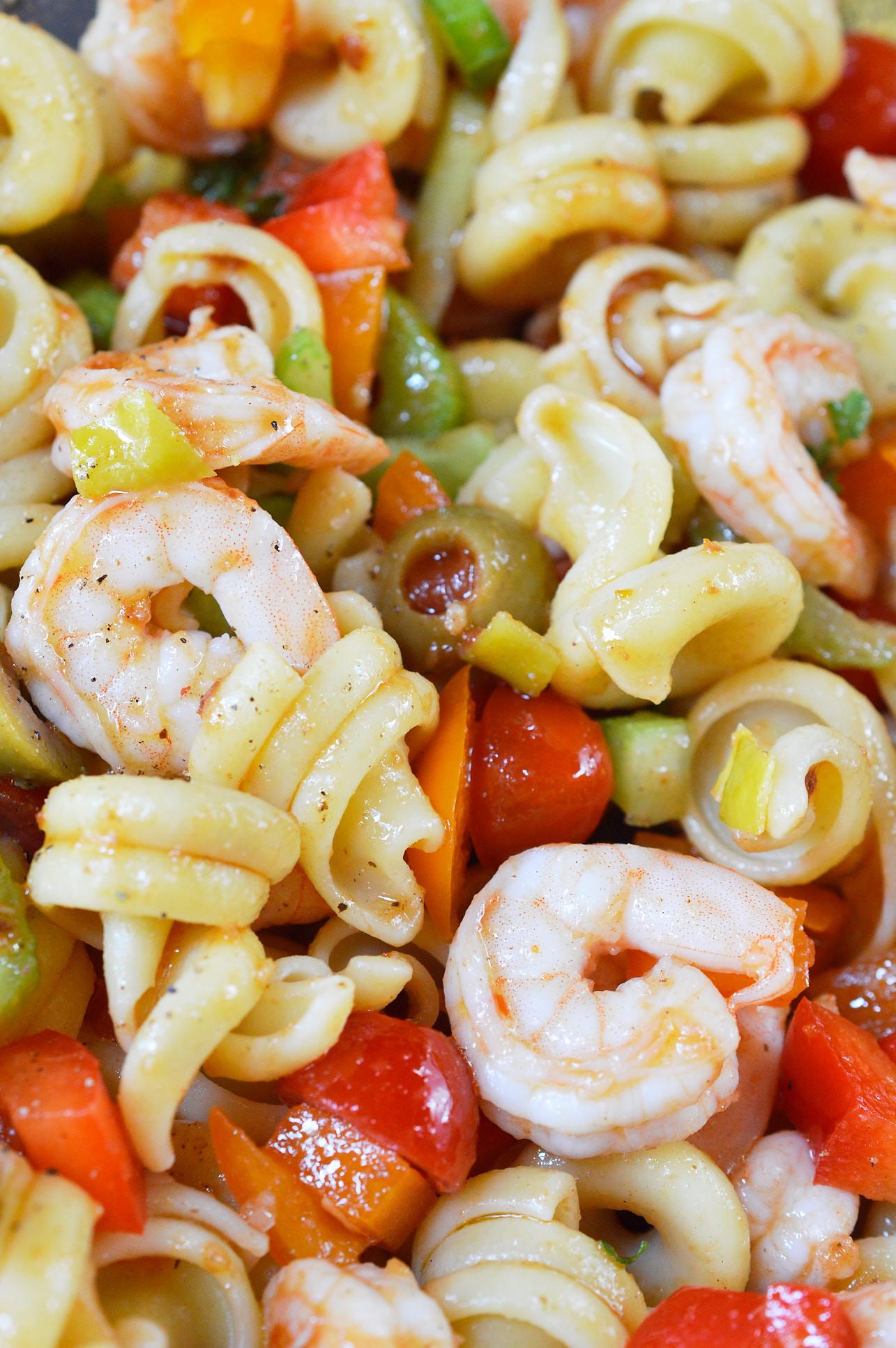 Shrimp And Pasta Salad  Bloody Mary Shrimp Pasta Salad WonkyWonderful