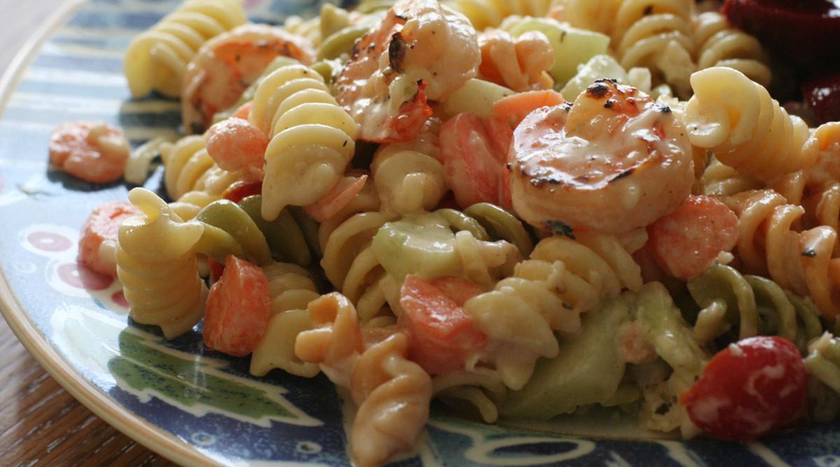 Shrimp And Pasta Salad  Easy Peasy Grilled Shrimp Pasta Salad