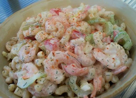 Shrimp And Pasta Salad  Creamy Shrimp Pasta Salad Recipe Genius Kitchen
