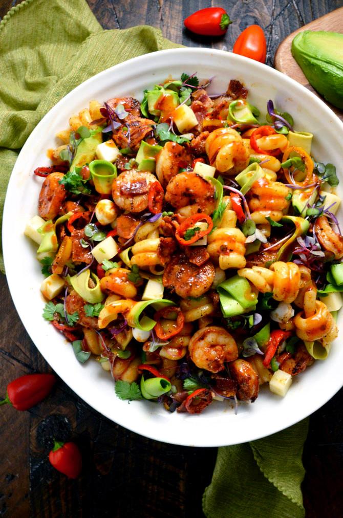 Shrimp And Pasta Salad  Smoky Shrimp Pasta Salad with Chipotle Honey Vinaigrette