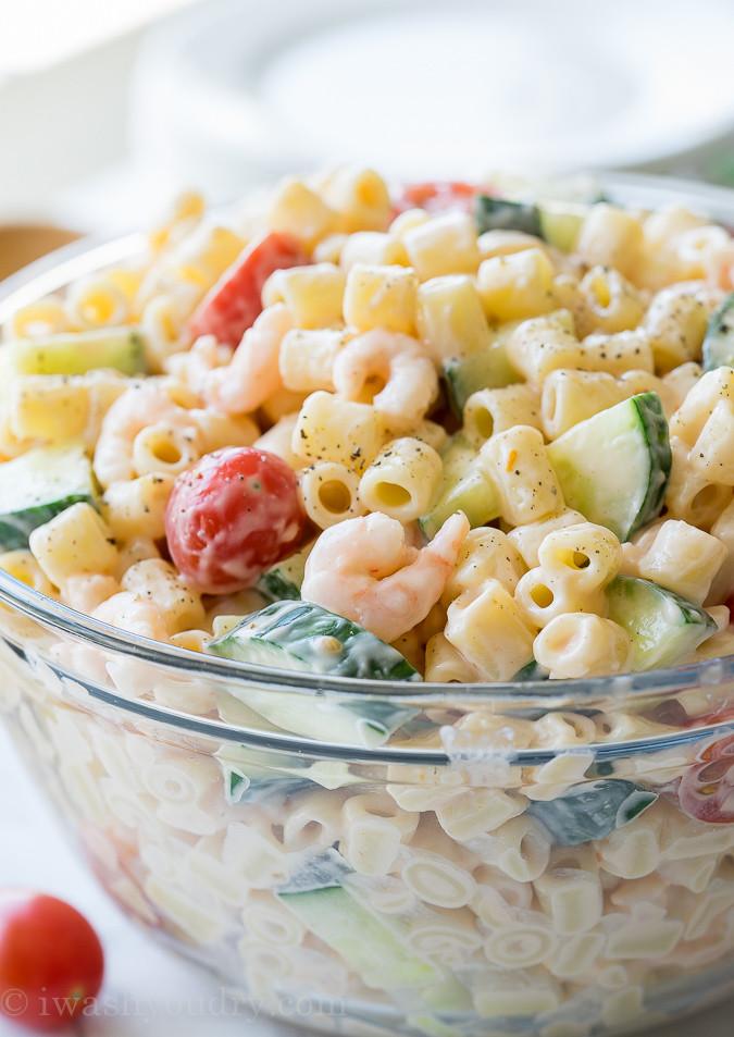 Shrimp And Pasta Salad  Shrimp Pasta Salad