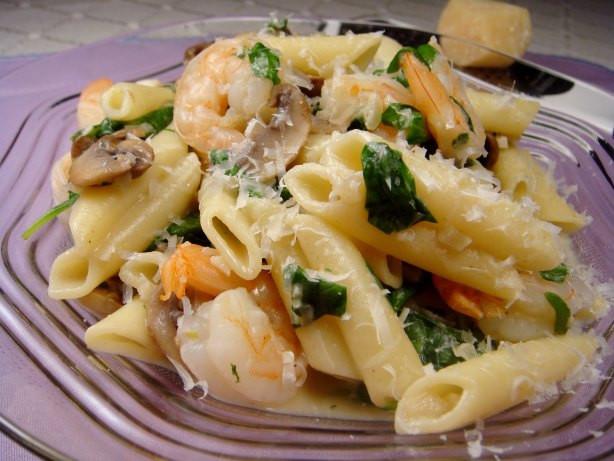 Shrimp And Spinach Pasta  Creamy Shrimp And Spinach Pasta Recipe Food