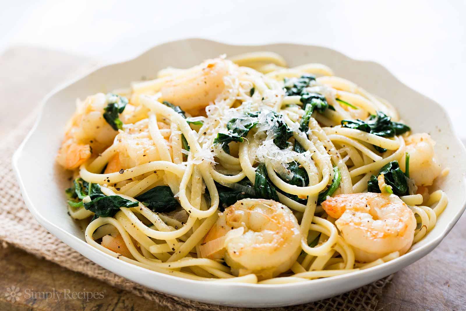 Shrimp And Spinach Pasta  Shrimp Lemon Spinach Linguine Recipe