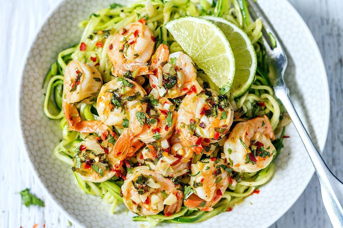 Shrimp And Zucchini  Cilantro Lime Shrimp with Zucchini Noodles — Eatwell101
