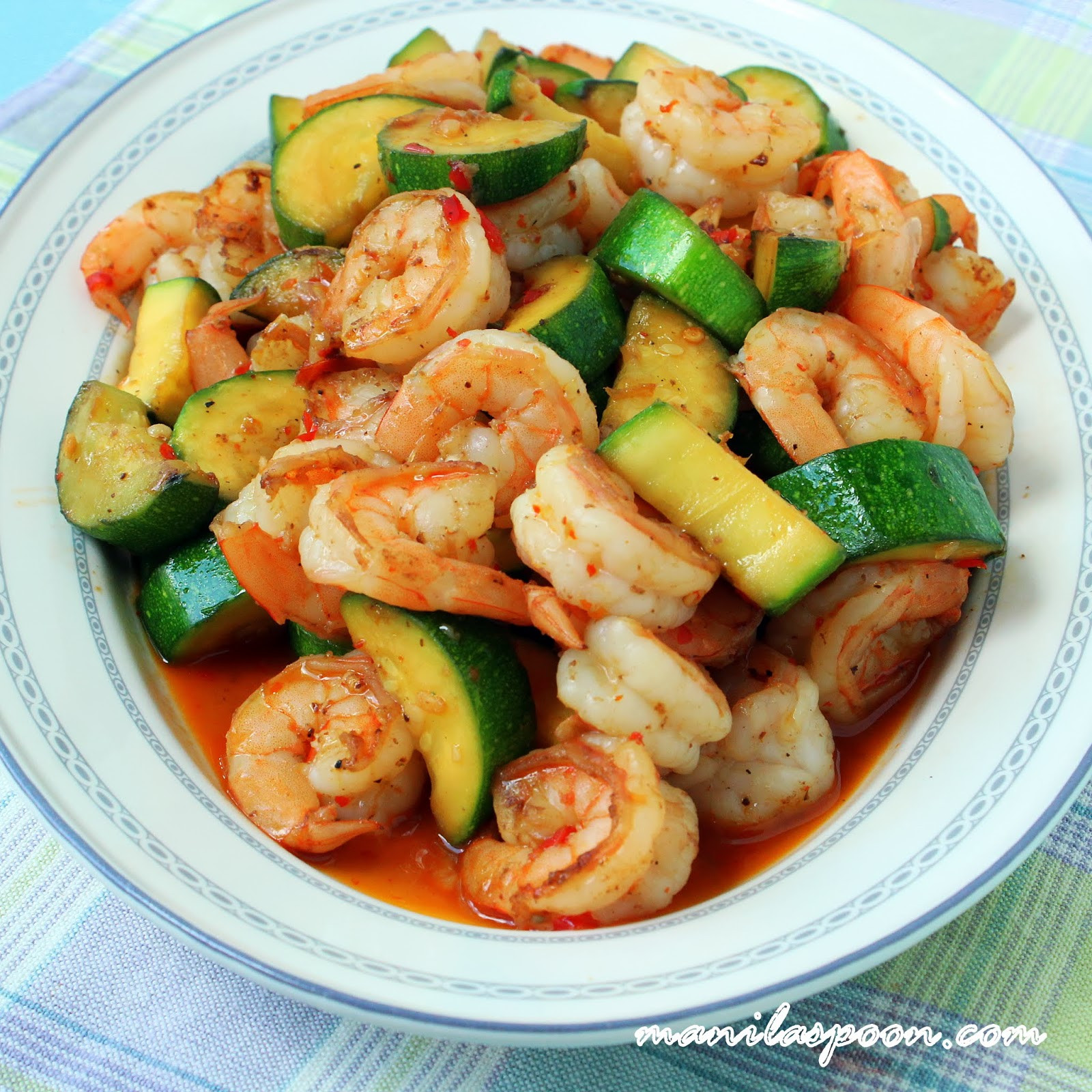 Shrimp And Zucchini  Sweet and Spicy Shrimp and Zucchini Stir Fry
