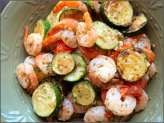 Shrimp And Zucchini  The Snack Box Shrimp with Zucchini and Tomatoes