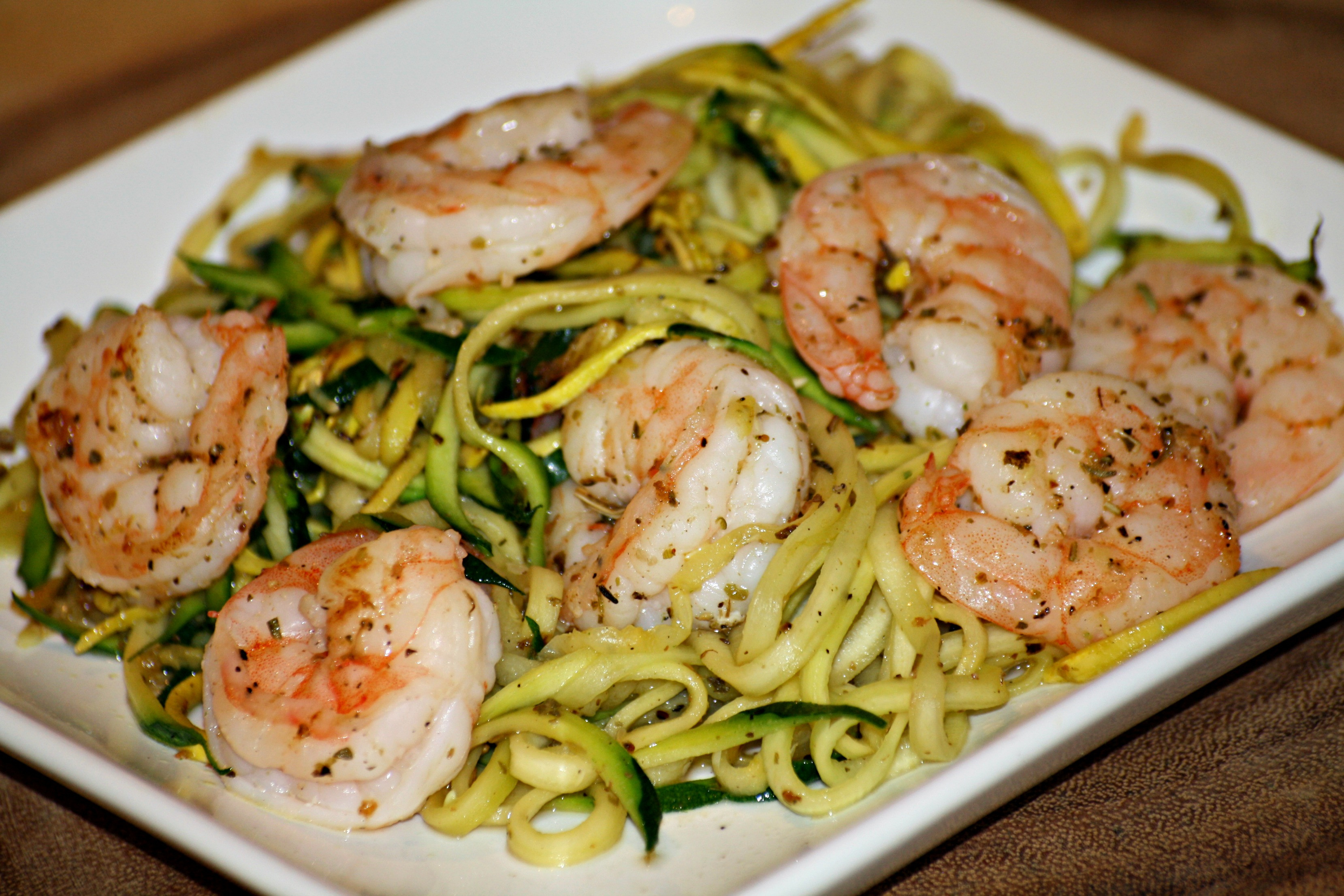 Shrimp And Zucchini  Zucchini Noodles and Shrimp addicted to recipes