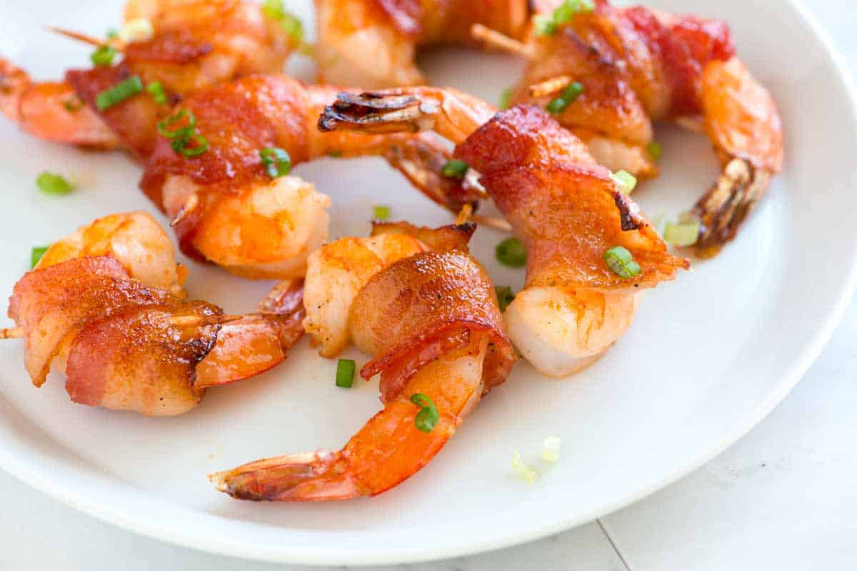 Shrimp Appetizer Recipes  Spicy Maple Bacon Wrapped Shrimp Recipe