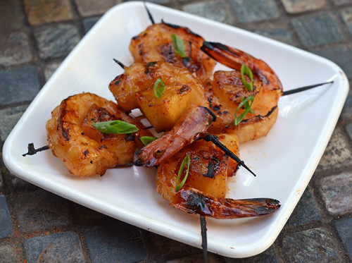 Shrimp Appetizer Recipes  Grilled Shrimp Bourbon yaki