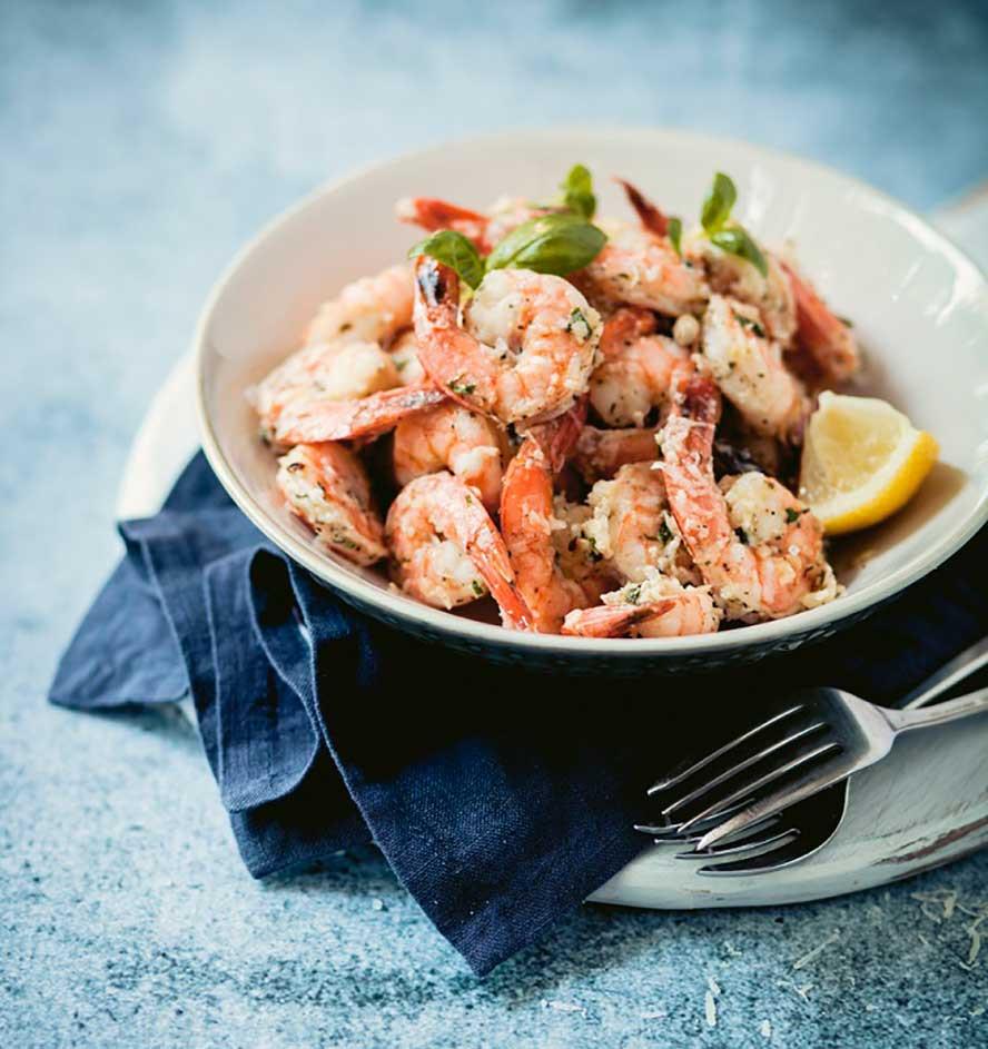 Shrimp Appetizers Food Network  8 Minute Garlic and Parmesan Pan Fried Shrimp Recipe