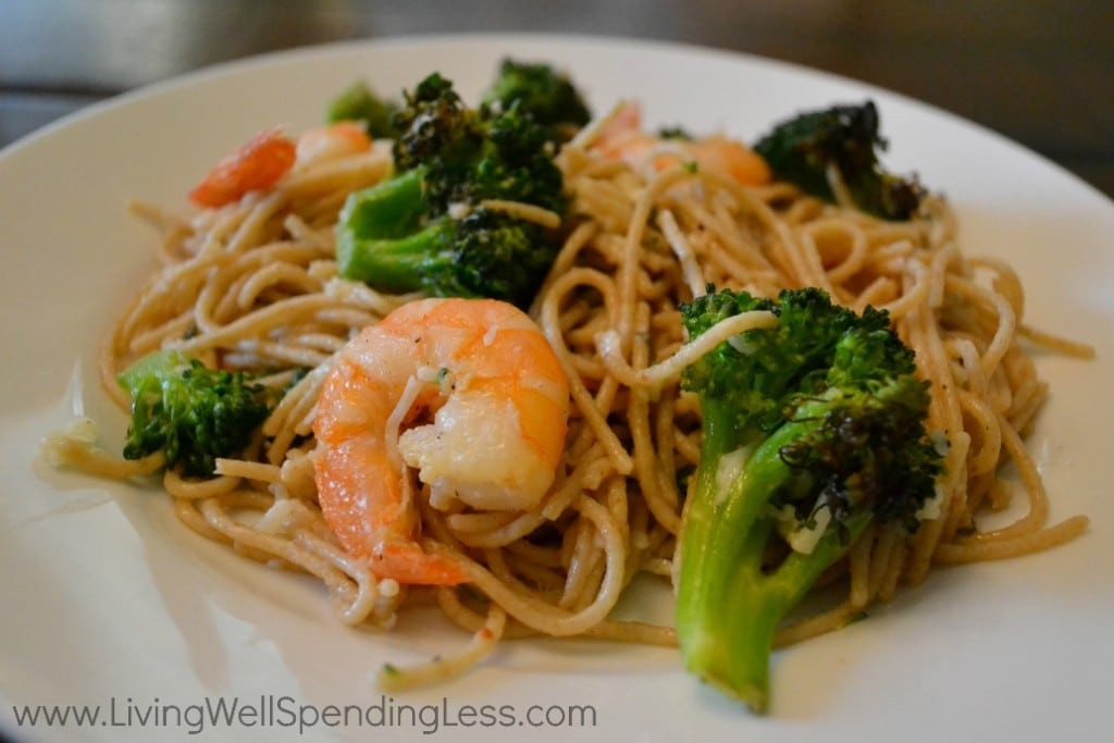 Shrimp Broccoli Pasta  Roasted Shrimp and Broccoli Pasta