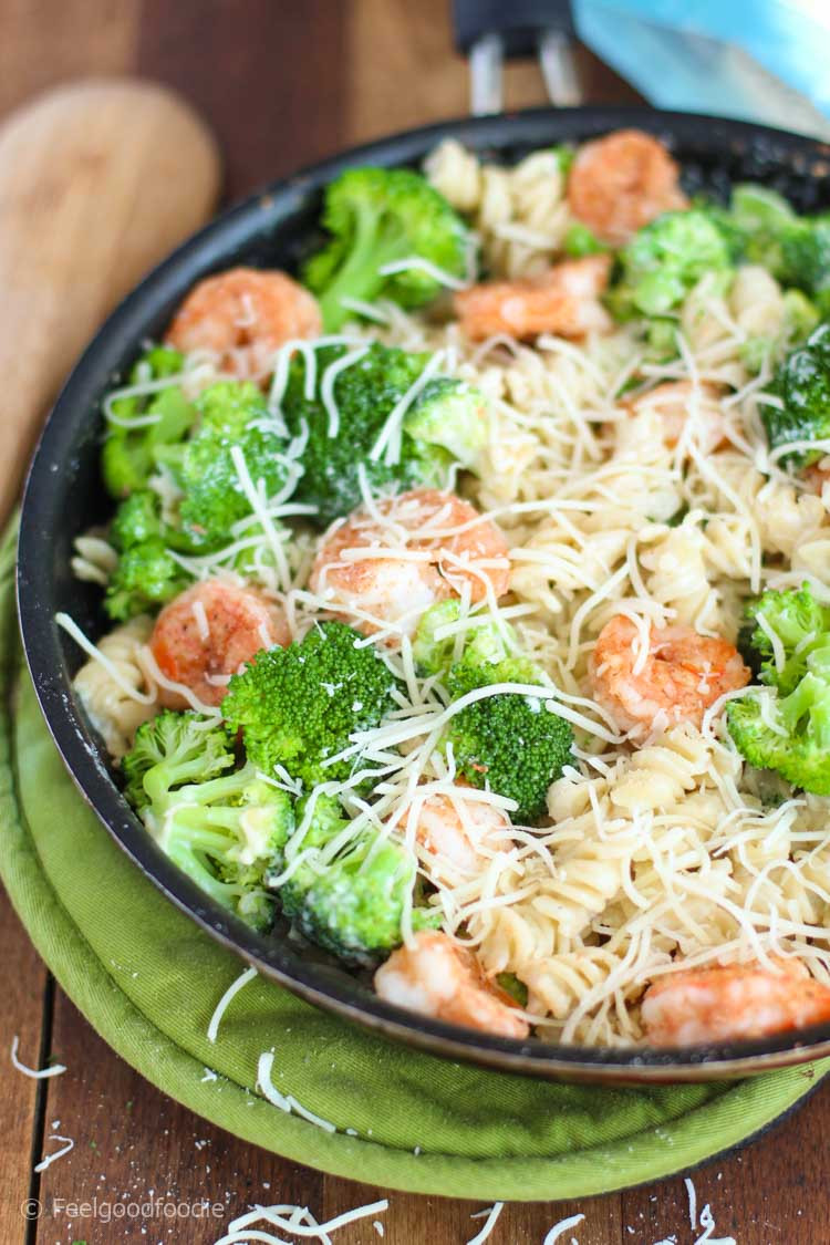 Shrimp Broccoli Pasta  Skinny Broccoli Shrimp Pasta Alfredo – Feelgoodfoo