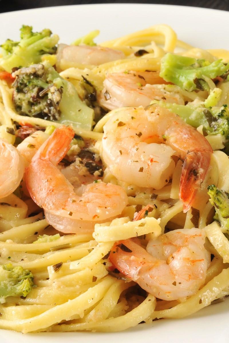 Shrimp Broccoli Pasta  Pasta with Creamy Garlic Shrimp and Broccoli