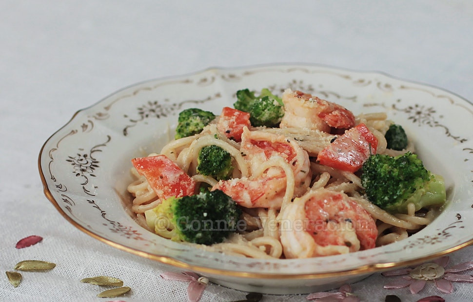 Shrimp Broccoli Pasta  Shrimp Broccoli Pasta With Lemon Garlic Sauce CASA