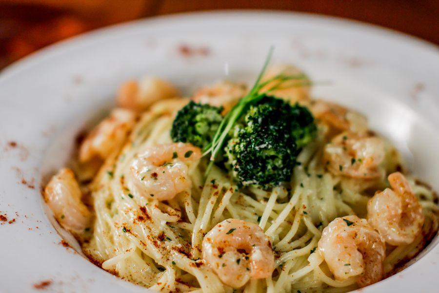 Shrimp Broccoli Pasta  Restaurant and Bar in Kyoto Japan Gojo Paradiso