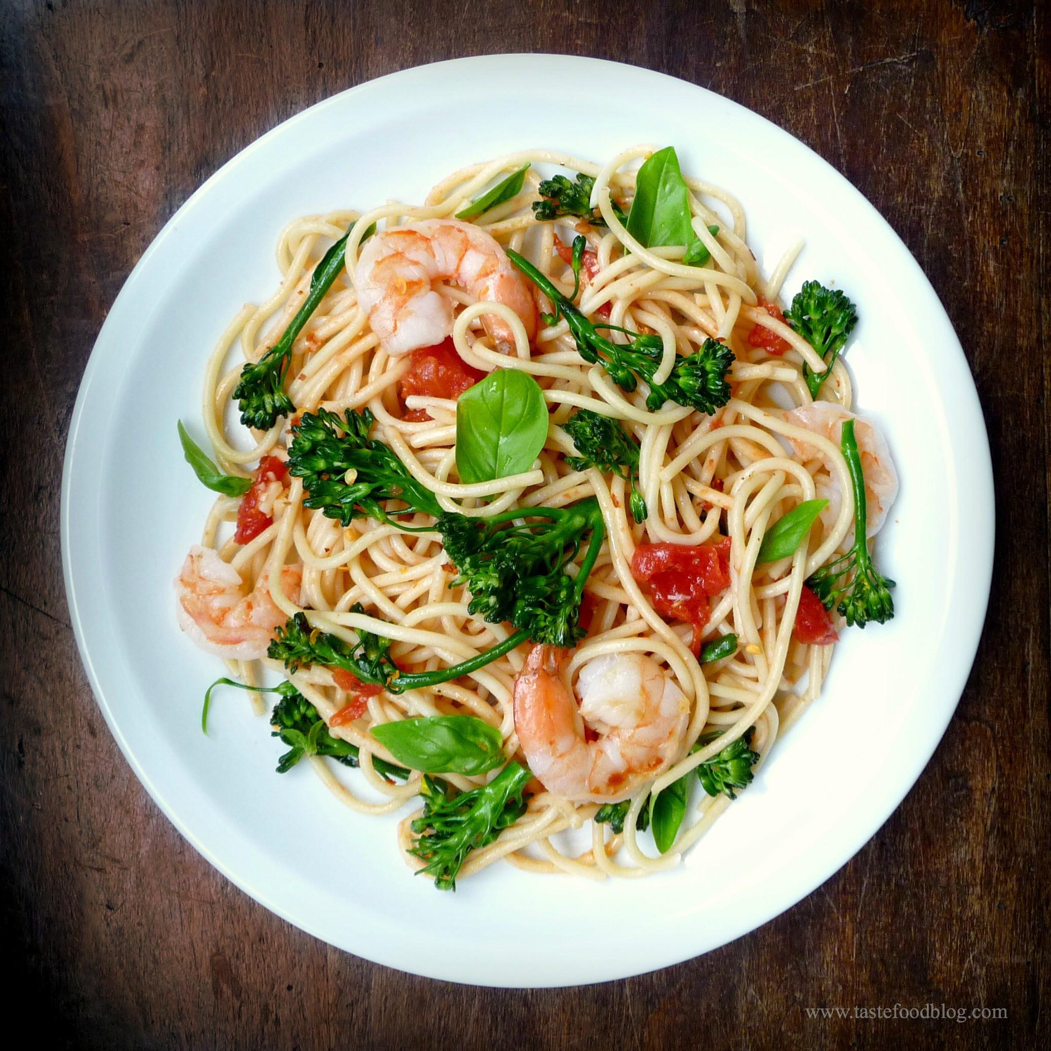 Shrimp Broccoli Pasta  Shrimp Broccolini and Tomato Pasta – TasteFood
