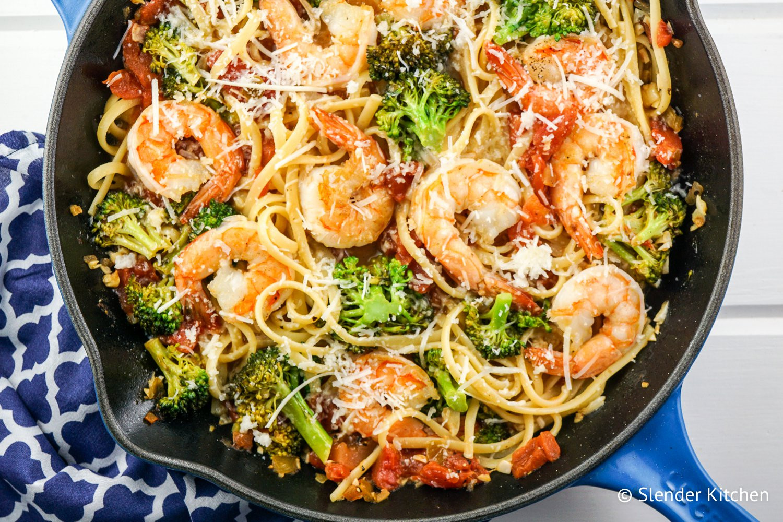Shrimp Broccoli Pasta  Lemon and Broccoli Pasta with Shrimp Slender Kitchen
