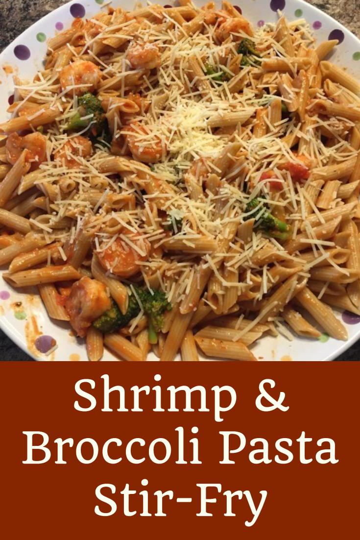 Shrimp Broccoli Pasta  Shrimp & Broccoli Pasta Stir Fry Shopping Kim