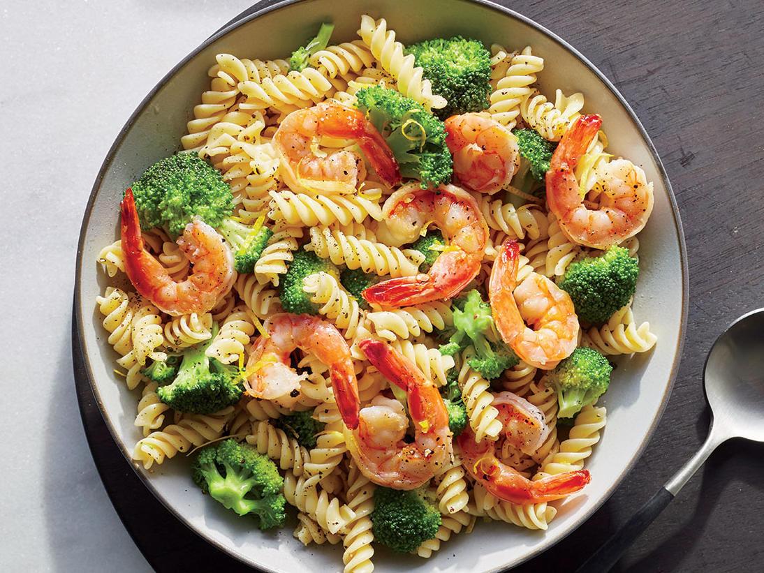 Shrimp Broccoli Pasta  Shrimp and Broccoli Rotini Recipe Cooking Light