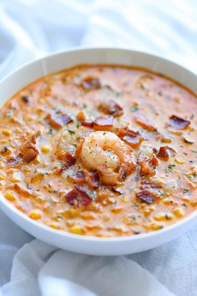 Shrimp Corn Chowder  Shrimp and Corn Chowder Recipe