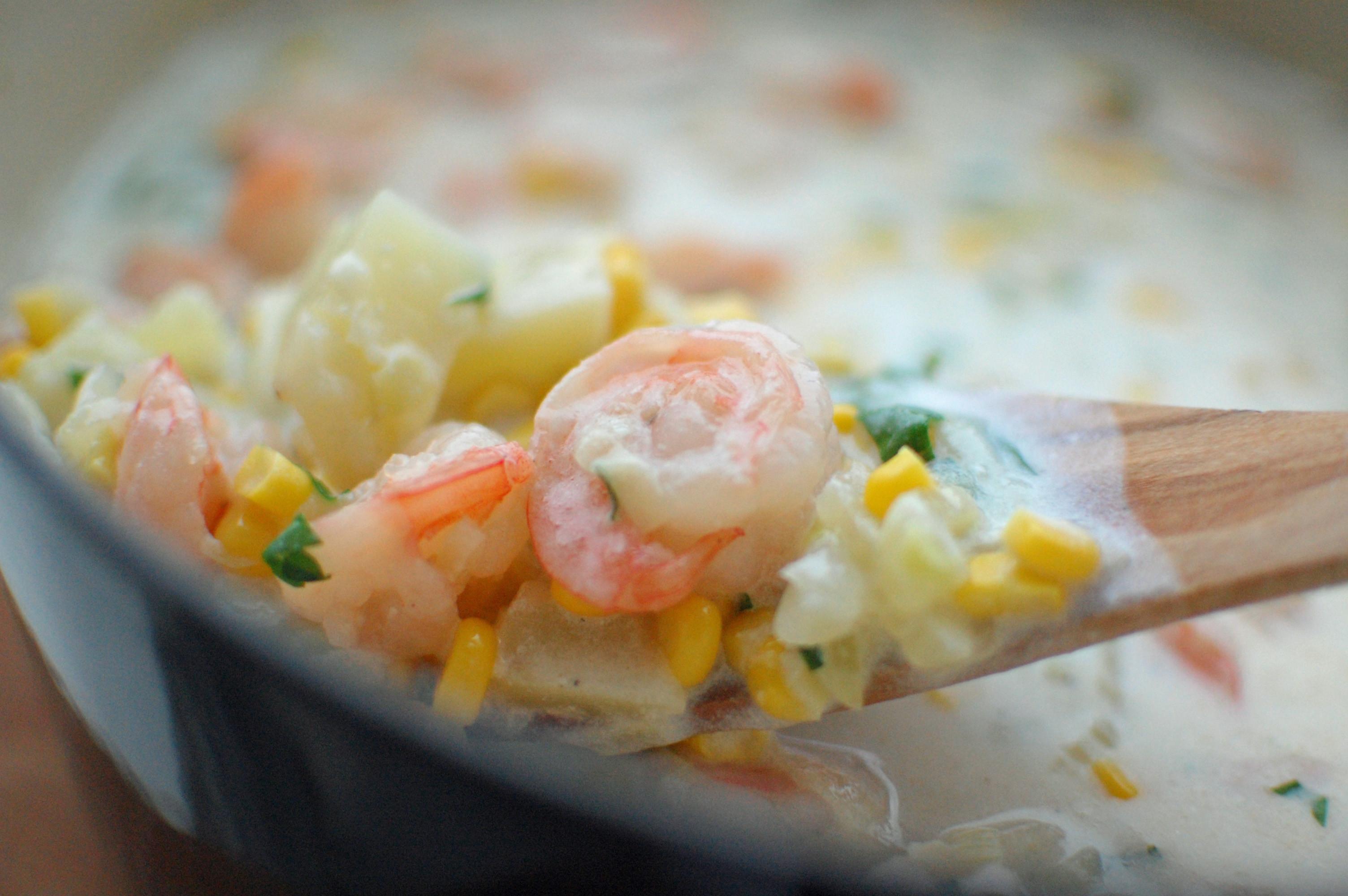 Shrimp Corn Chowder  Shrimp and Corn Chowder with Fennel
