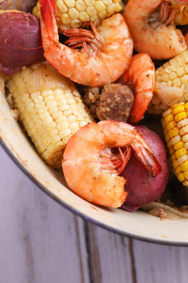 Shrimp Potatoes Corn Sausage Boil  Old Bay Shrimp Boil Cooking is Messy