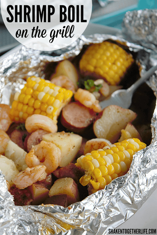 Shrimp Potatoes Corn Sausage Boil  Shrimp Boil on the Grill Shaken To her