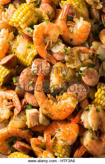 Shrimp Potatoes Corn Sausage Boil  Shrimp Boil Stock s & Shrimp Boil Stock Alamy