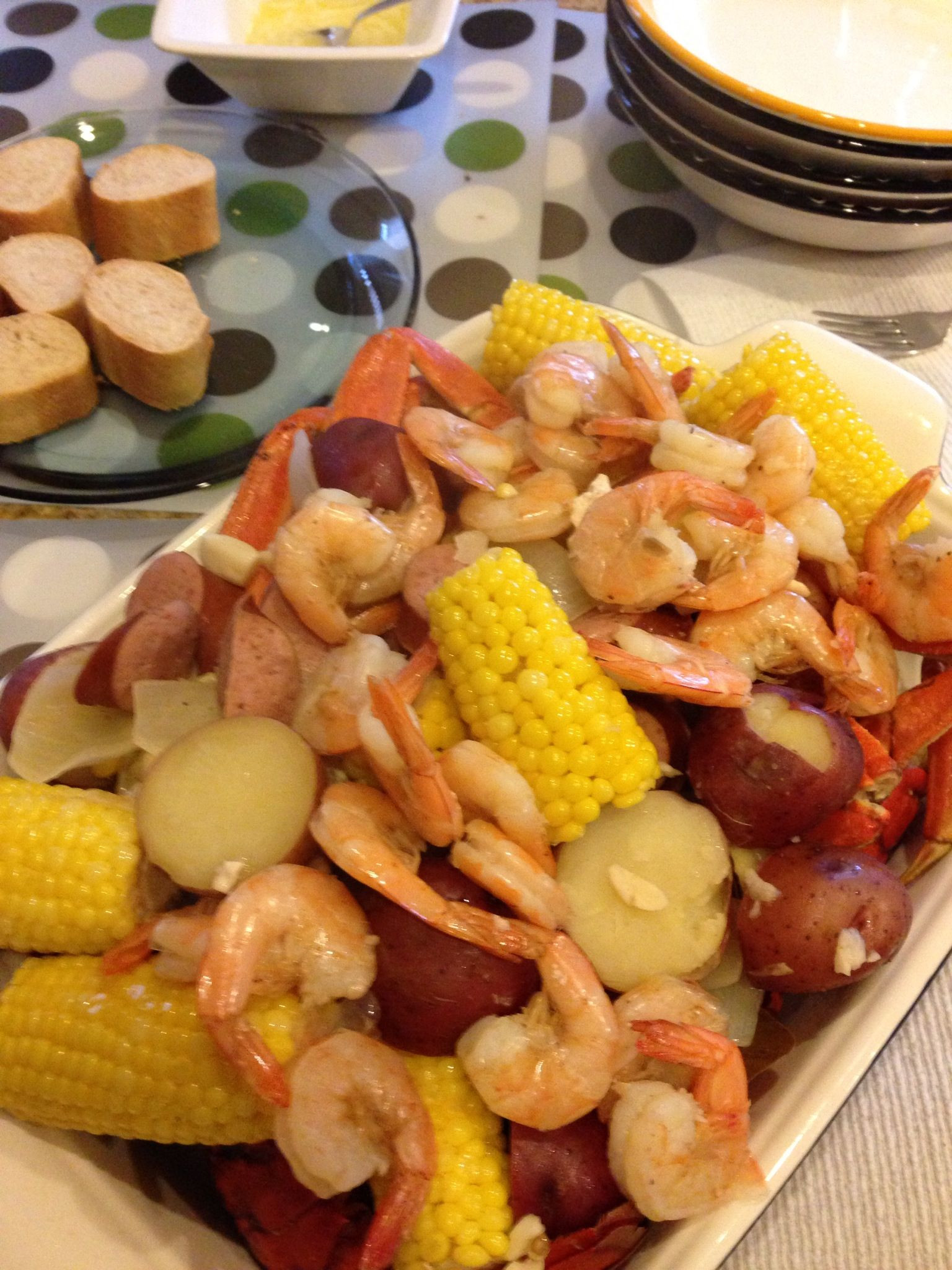 Shrimp Potatoes Corn Sausage Boil  Seafood Boil lobster crab shrimp sausage corn