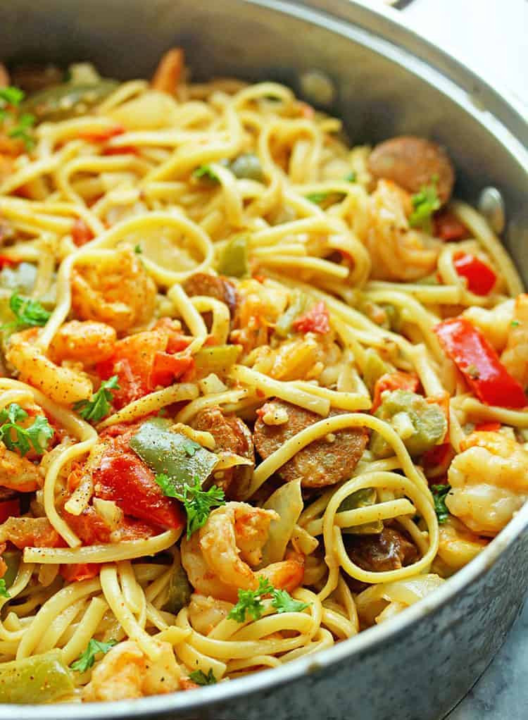 Shrimp Recipes Pasta  Cajun Shrimp Pasta Recipe Grandbaby Cakes