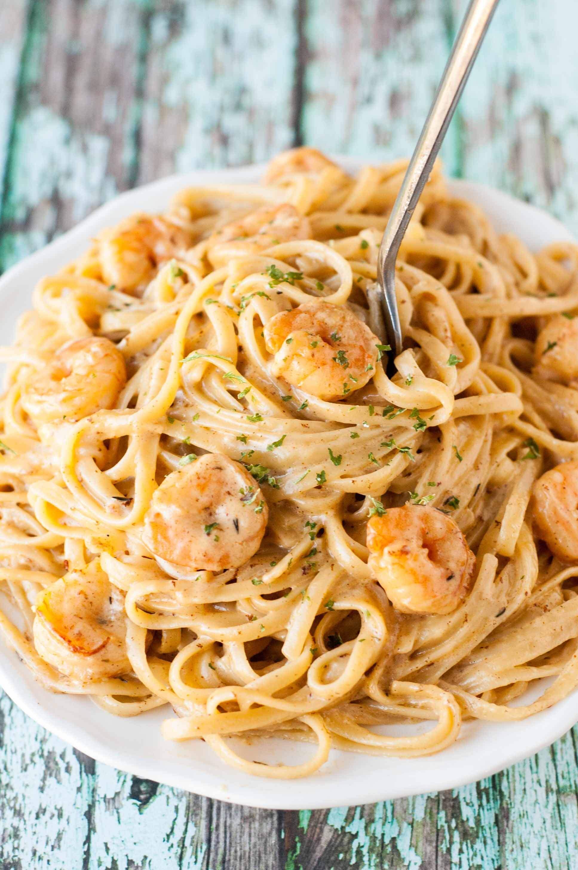 Shrimp Recipes Pasta  Cajun Shrimp Pasta Slow Cooker Gourmet