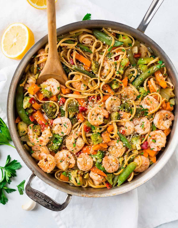 Shrimp Recipes With Pasta  Garlic Shrimp Pasta