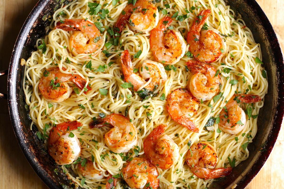 Shrimp Recipes With Pasta  Shrimp Scampi with Pasta Recipe