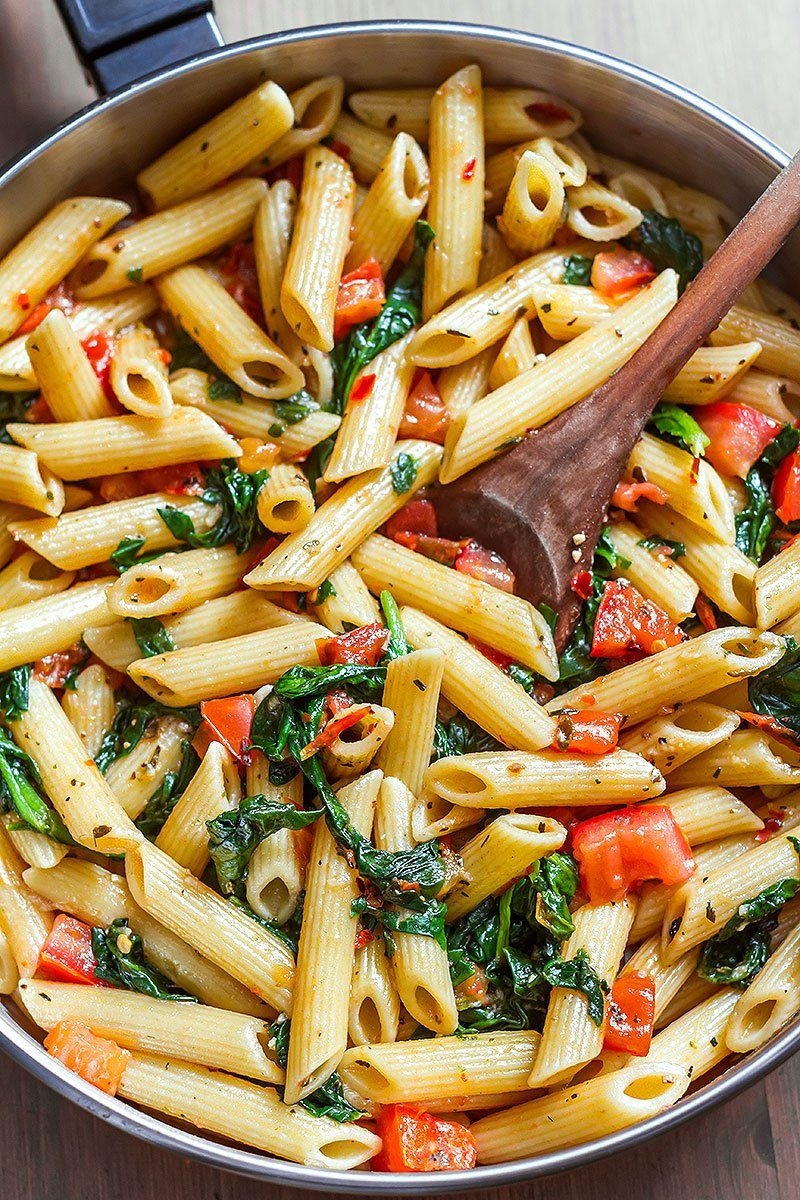 Shrimp Recipes With Pasta  Shrimp Pasta Recipe with Tomato and Spinach — Eatwell101