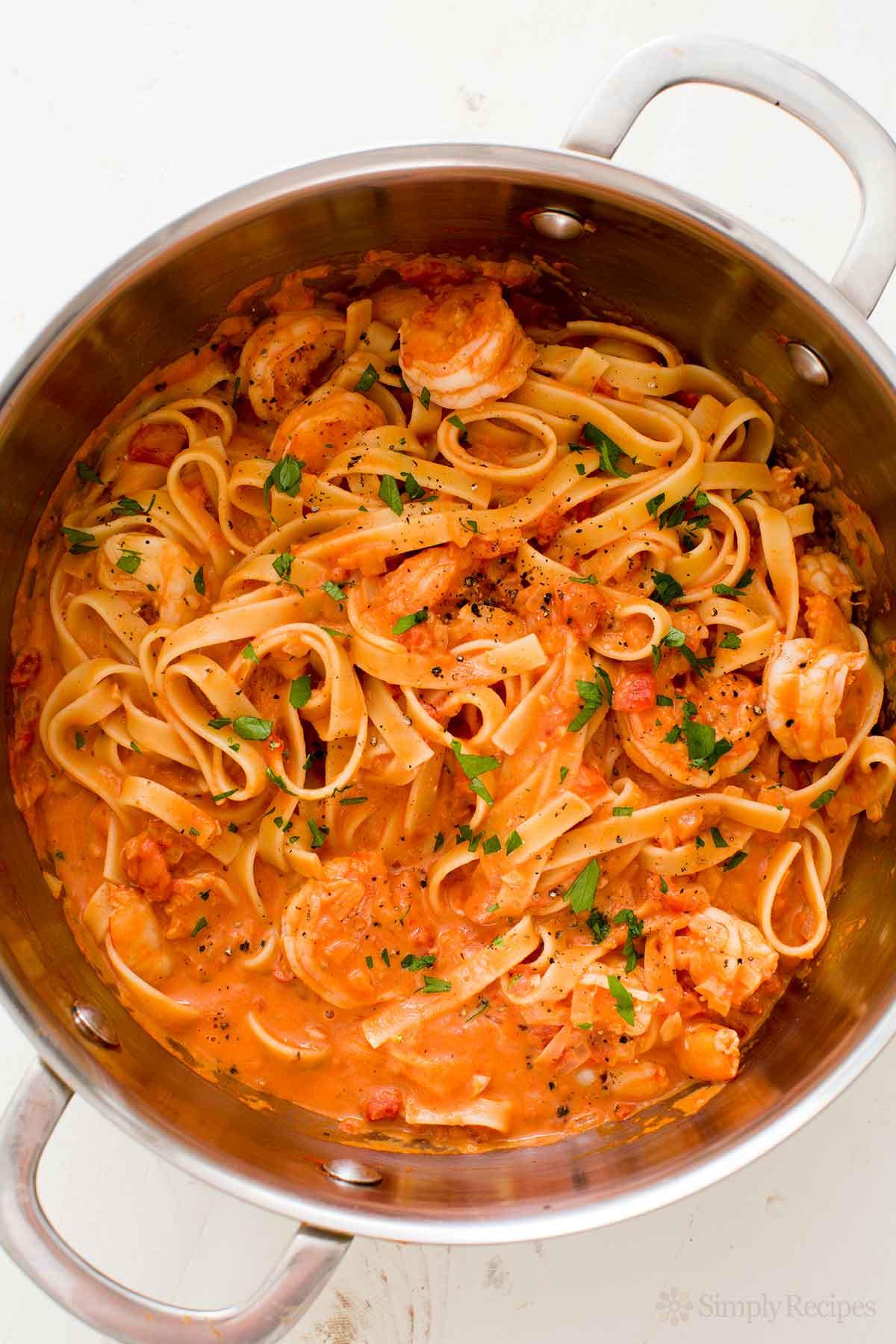 Shrimp Recipes With Pasta  Shrimp Pasta alla Vodka Recipe with video