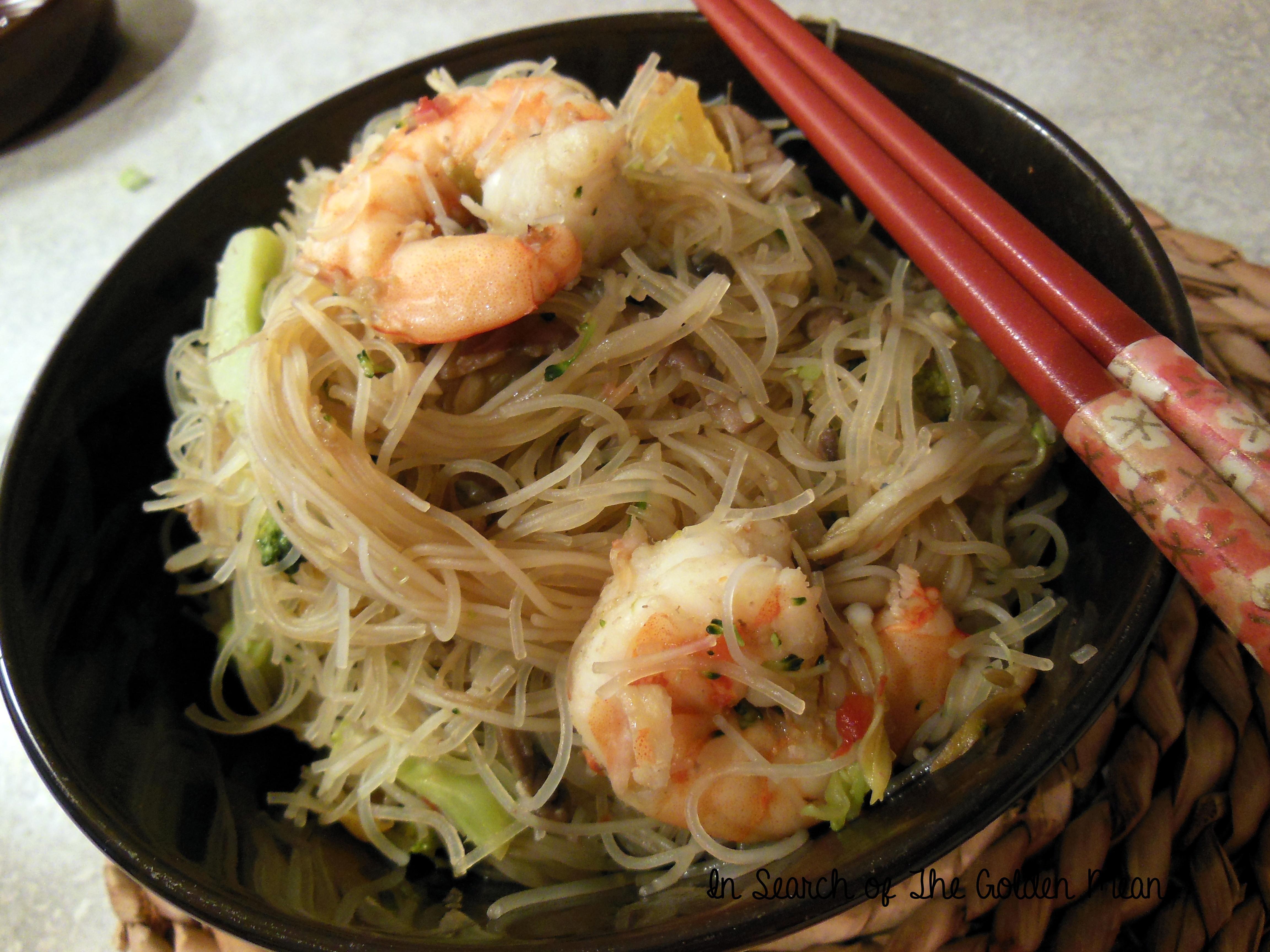 Shrimp Rice Noodles  Beef and Shrimp Stir Fry with Rice Noodles