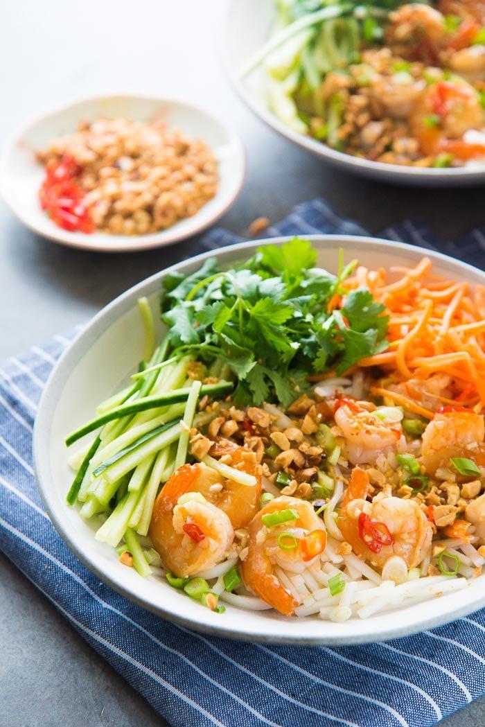 Shrimp Rice Noodles  Garlic Lime Shrimp Rice Noodles