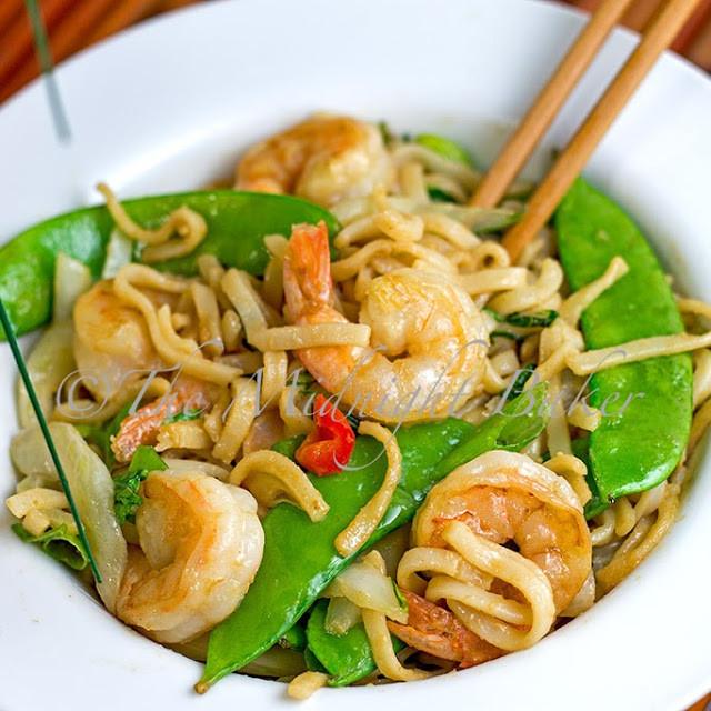 Shrimp Rice Noodles  Peanut Rice Noodles with Shrimp The Midnight Baker
