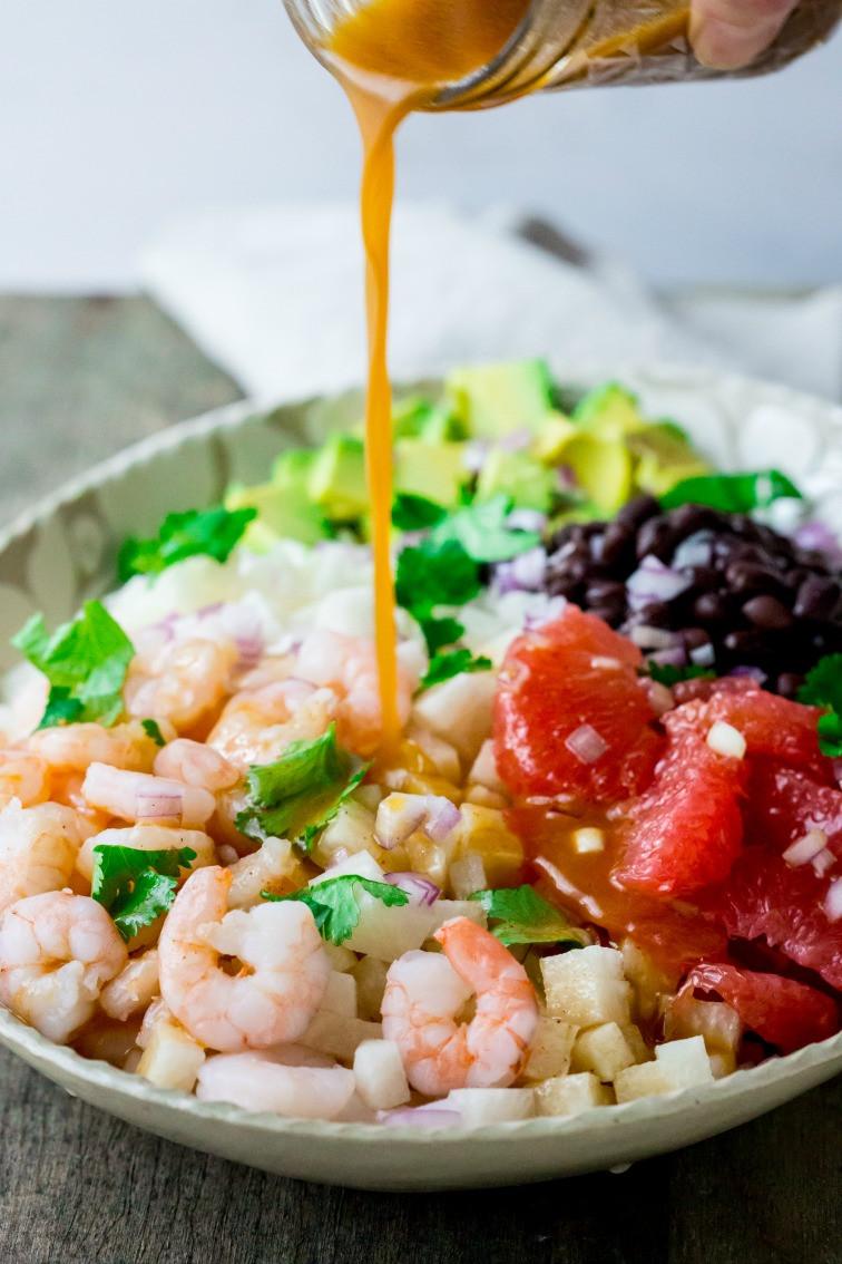 Shrimp Salad Dressing  mexican jicama shrimp salad Healthy Seasonal Recipes