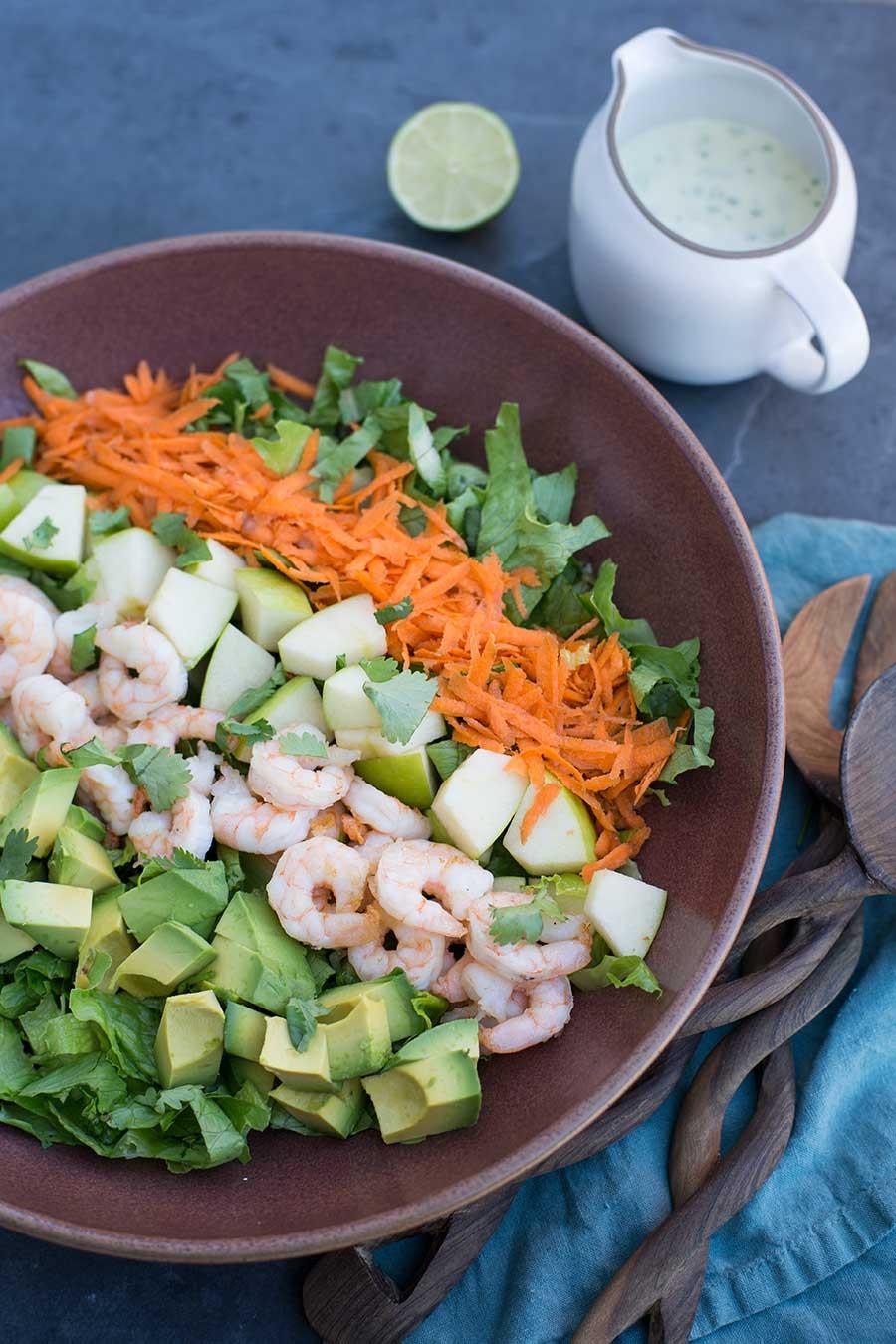 Shrimp Salad Dressing  Shrimp Salad with Cilantro Lime Ranch Dressing