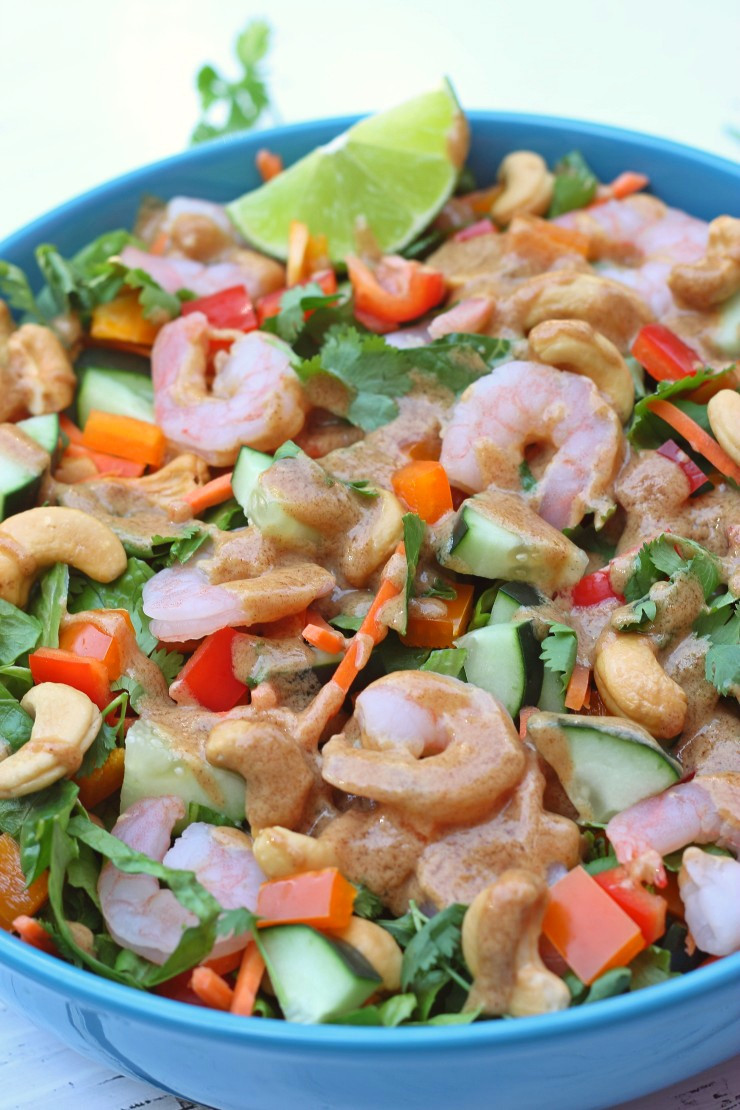 Shrimp Salad Dressing  Thai Shrimp Salad Almond Dressing Paleo Whole30